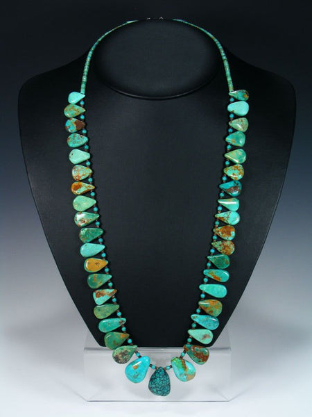 Native American Indian Jewelry Tear Drop Turquoise Necklace