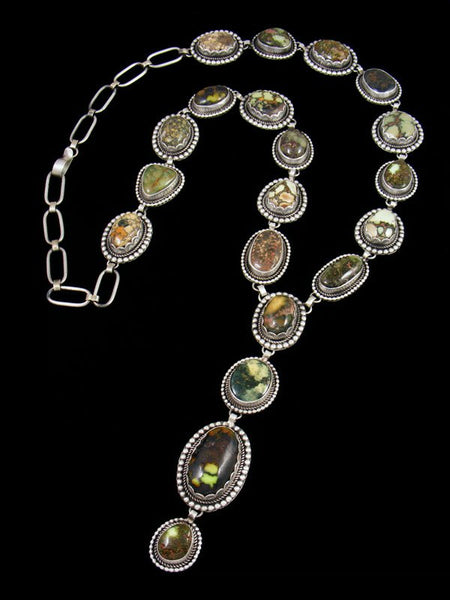 Native American Sterling Silver Damele Variscite Necklace