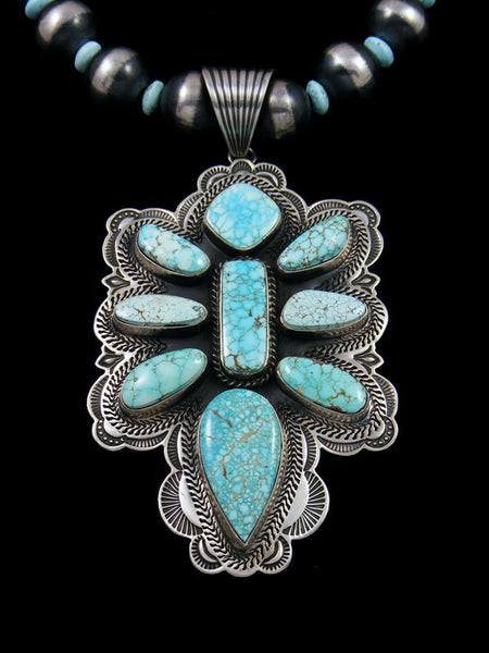Native American Number 8 Turquoise Beaded Necklace