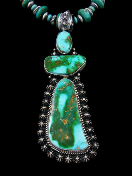 Native American Natural Royston Turquoise Necklace Set