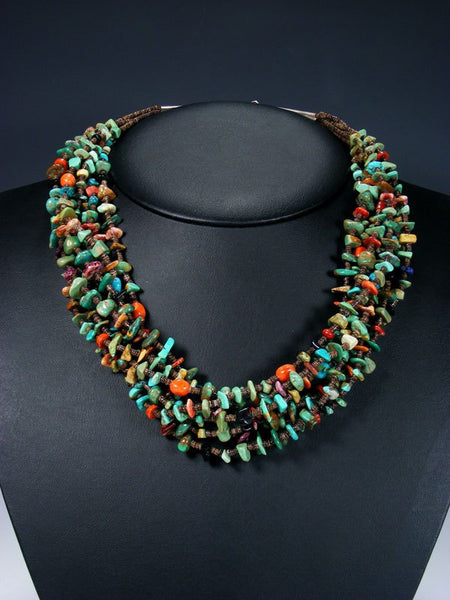 Native American Indian Santo Domingo Turquoise Heishi Necklace