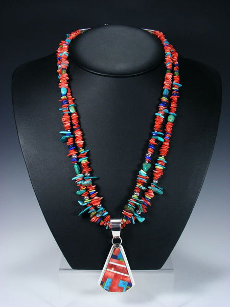 Native American Indian Santo Domingo Spiny Oyster Treasure Necklace