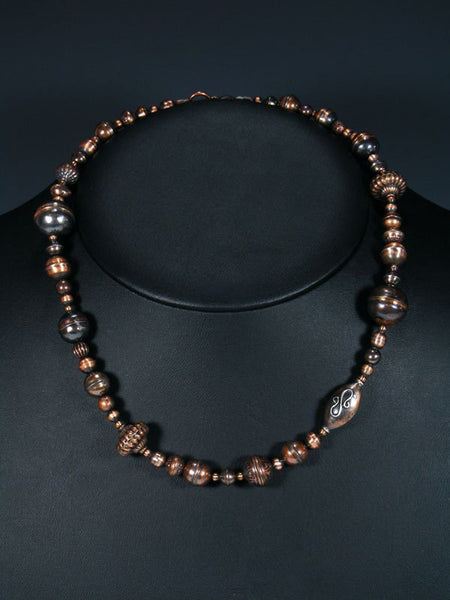 Native American Copper Bead Necklace