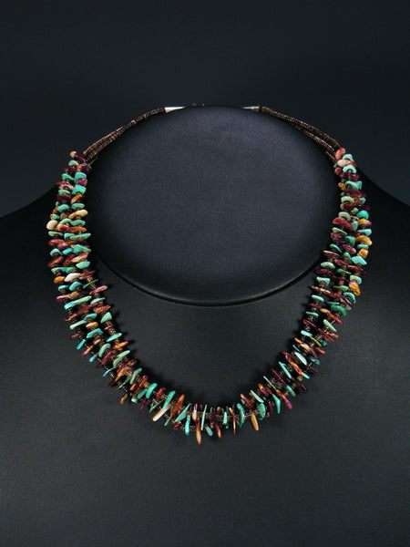 Native American Purple Spiny Oyster and Turquoise Necklace