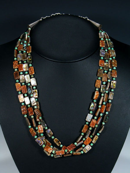 Native American Santo Domingo Abalone and Turquoise Necklace