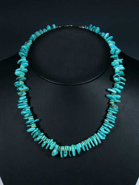 Native American Indian Jewelry Turquoise Tear Drop Nugget Necklace