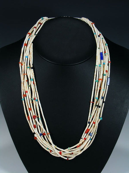 Native American Santo Domingo Spiny Oyster and Heishi Necklace