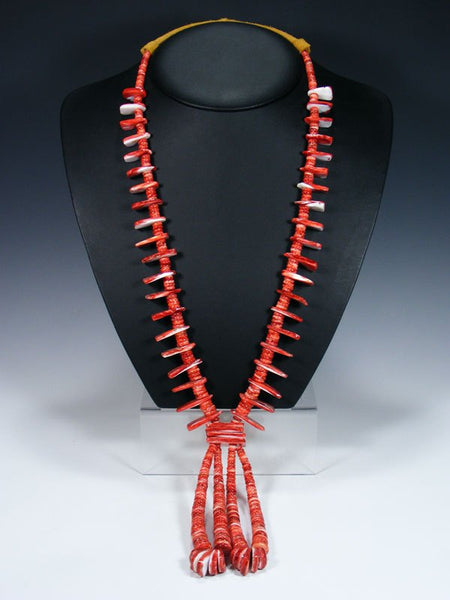 Native American Spiny Oyster Jocla Necklace
