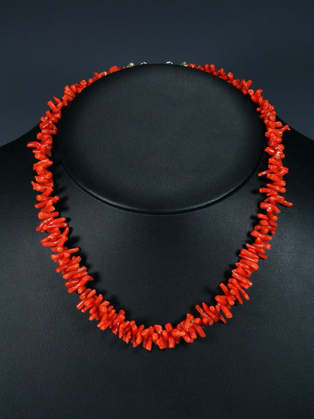 Native American Jewelry Branch Coral Necklace