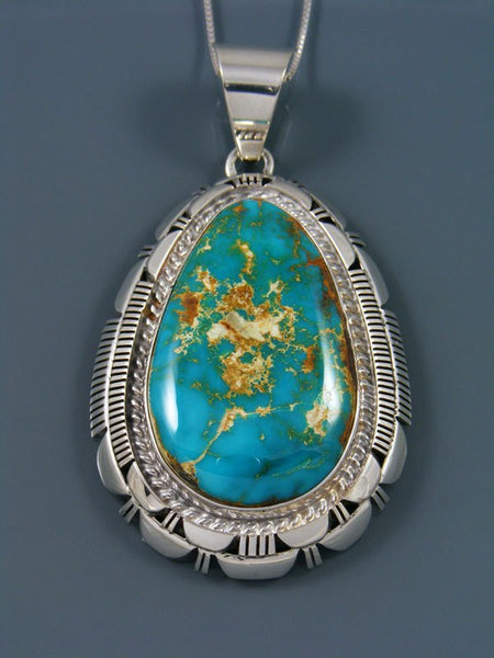 Native American Natural Royston Turquoise Pendant