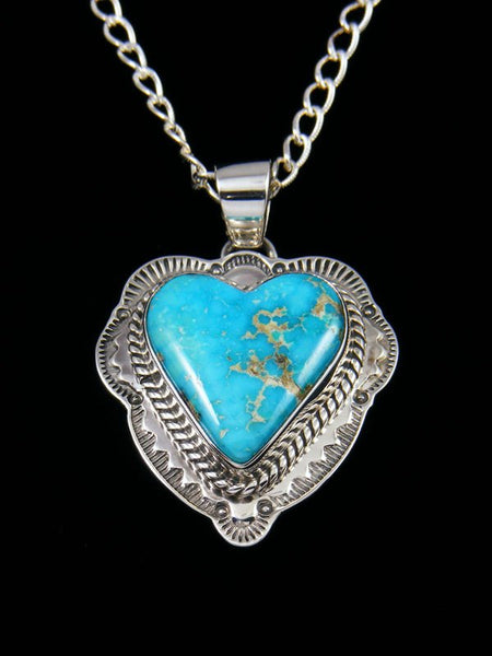 Native American Arizona South Hill Turquoise Heart Pendant