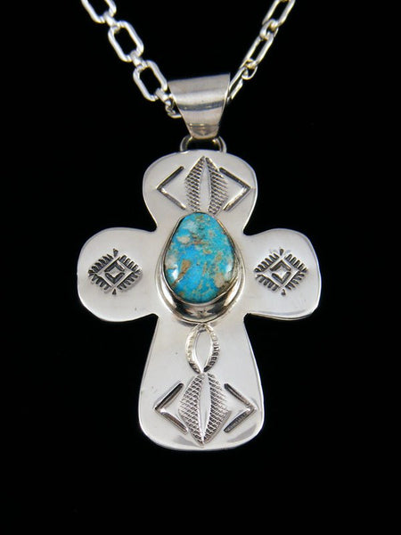 Turquoise Mountain Navajo Sterling Silver Pendant