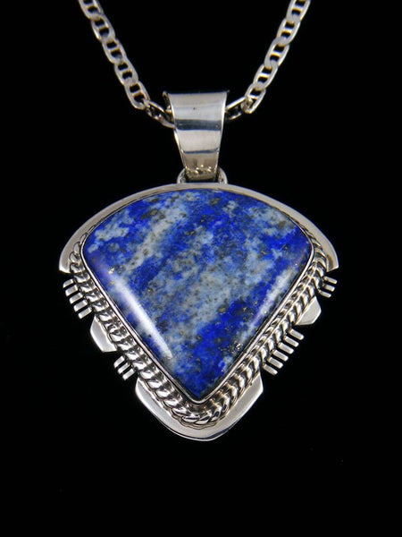 Native American Sterling Silver Blue Lapis Pendant
