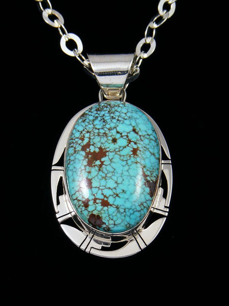 Navajo #8 Turquoise Sterling Silver Pendant