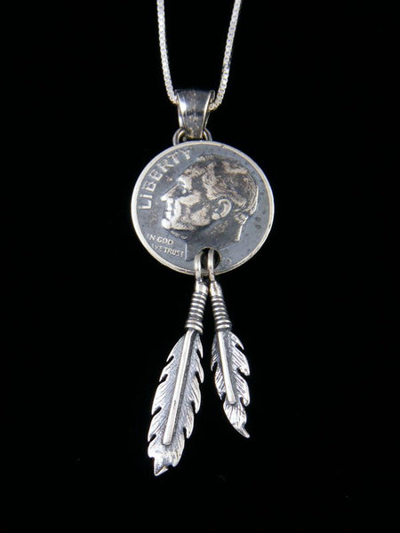 Native American Liberty Dime Pendant