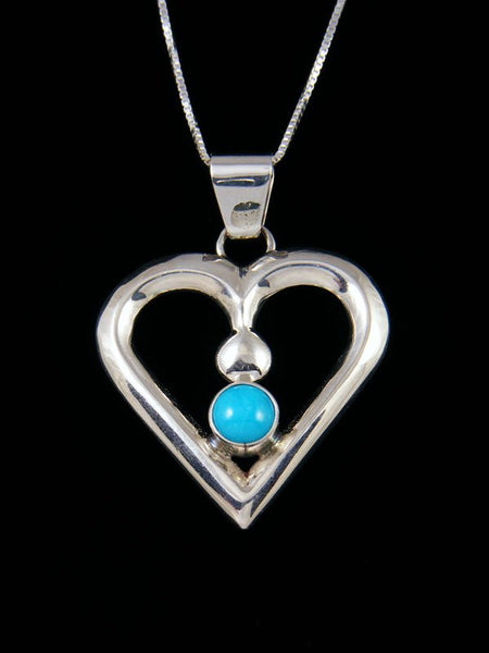 Native American Indian Jewelry Turquoise Heart Pendant