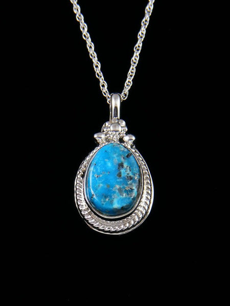 Native American Indian Jewelry Blue Bird Turquoise Pendant