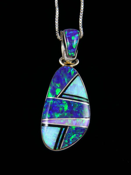 Native American Opalite Inlay Pendant