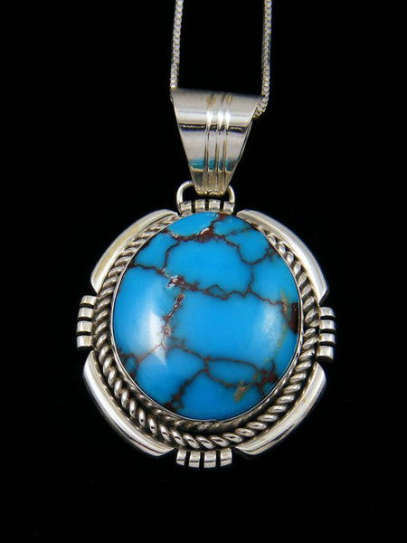 Egyptian Prince Turquoise Navajo Sterling Silver Pendant