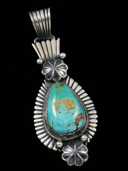 Navajo Sterling Silver Royston Turquoise Pendant