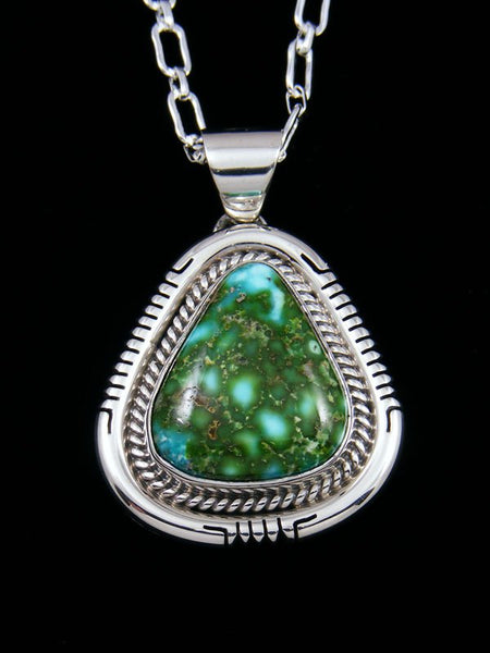 Native American Indian Jewelry Sonoran Turquoise Pendant