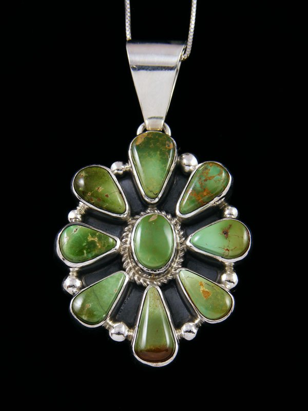 Native American Indian Jewelry Kings Manassa Cluster Pendant