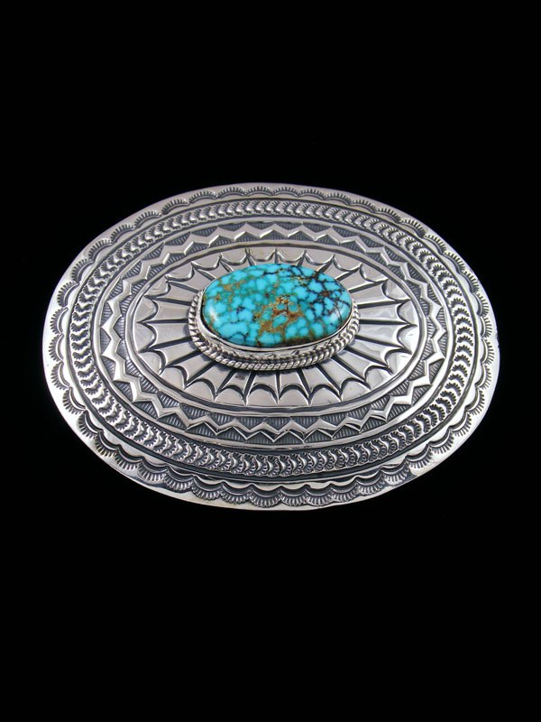 Native American Kingman Turquoise Belt Buckle