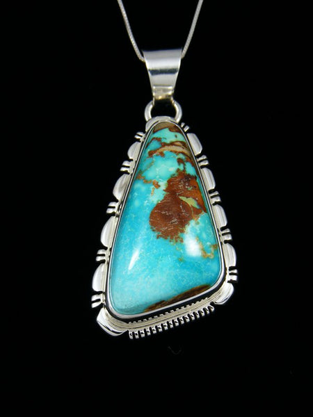 Native American Sterling Silver Royston Turquoise Pendant