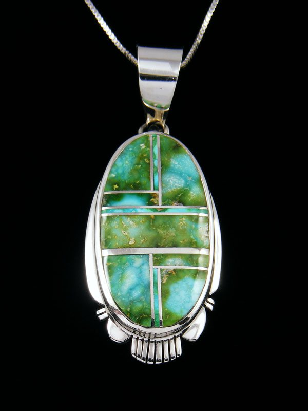 Natural Spiny Oyster Copper Turquoise PendantUnique PendantSterling SilverBox ChainHandmadeMade In Albuquerque