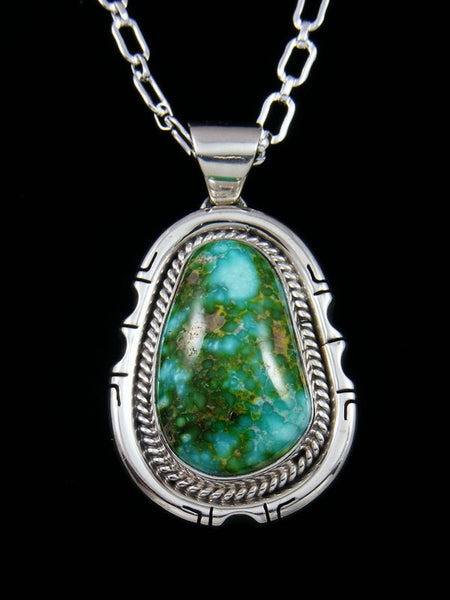 Sonoran Turquoise Navajo Sterling Silver Pendant