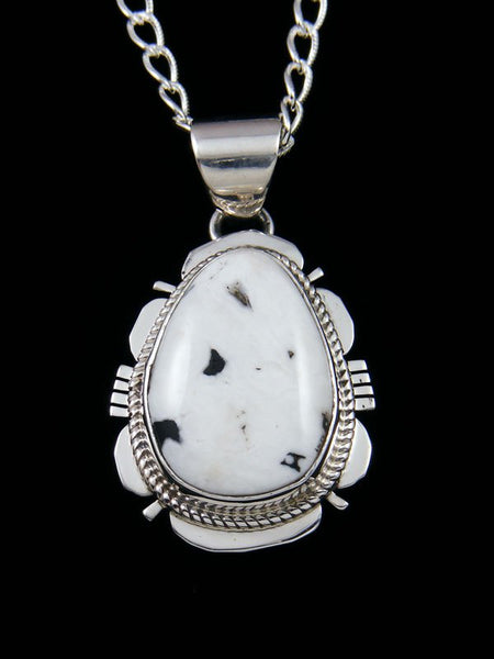 Native American White Buffalo Sterling Silver Pendant