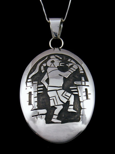 Native American Indian Sterling Silver Pictoral Mudhead Pendant