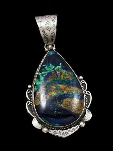 Native American Azurite Malachite Pendant