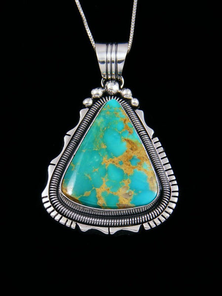 Native American Royston Turquoise Sterling Silver Pendant