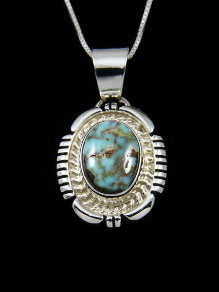 Dry Creek Turquoise Navajo Sterling Silver Pendant
