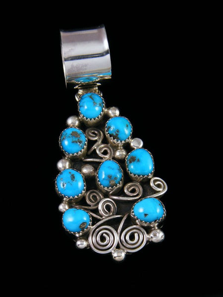 Navajo Necklace Turquoise Sterling Silver Pendant