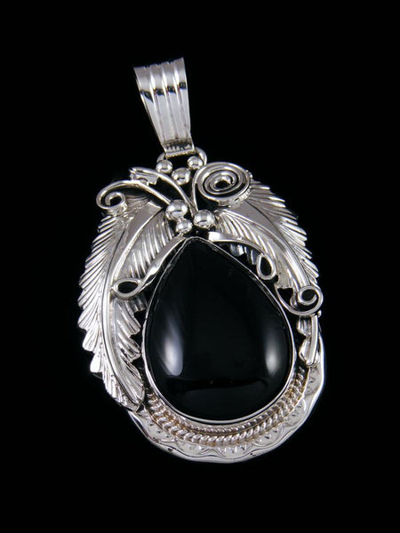 Native American Indian Jewelry Black Onyx Pendant
