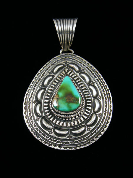 Large Native American Indian Royston Turquoise Pendant