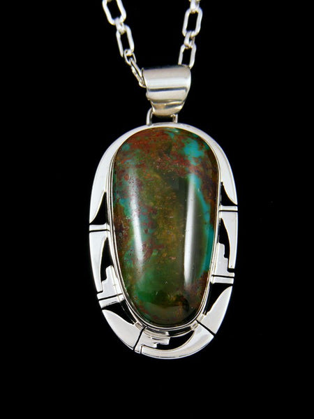 Native American Indian Jewelry Royston Turquoise Pendant
