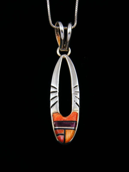 Native American Spiny Oyster Inlay Pendant