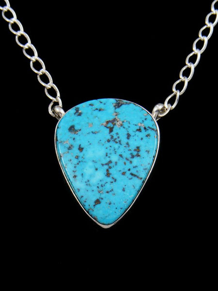 Kingman Turquoise Navajo Sterling Silver Necklace