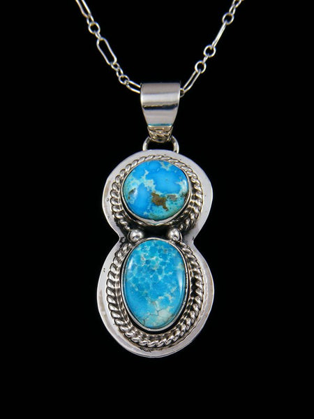 Native American Blue Bird Turquoise Pendant