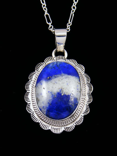 Native American Indian Jewelry Lapis Pendant
