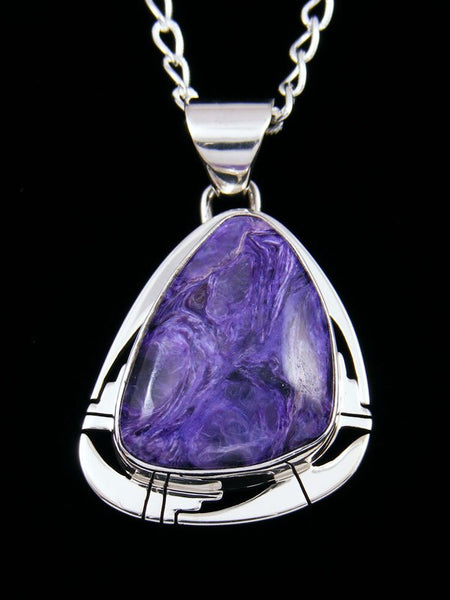 Native American Indian Jewelry Charoite Pendant