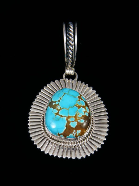 Navajo Dragonfly Turquoise Sterling Silver Pendant