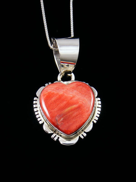 Native American Indian Jewelry Spiny Oyster Heart Pendant