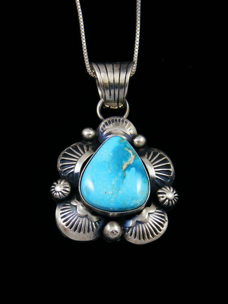 Native American Indian Jewelry Sonoran Rose Turquoise Pendant
