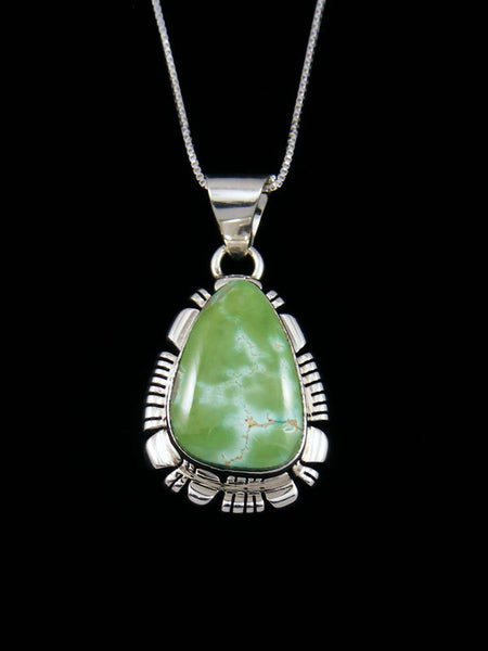 Navajo Royston Turquoise Sterling Silver Pendant