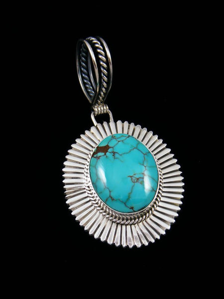 Navajo Egyptian Turquoise Sterling Silver Pendant