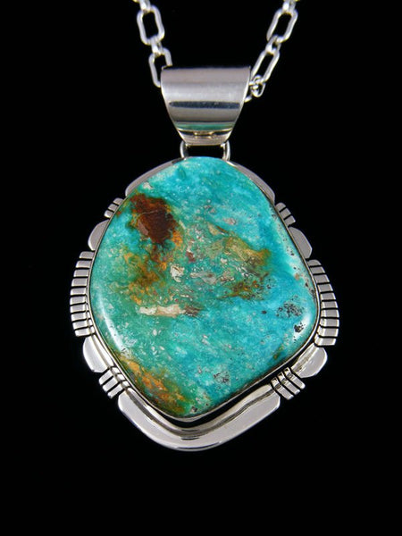Native American Indian Jewelry Arizona South Hill Turquoise Pendant